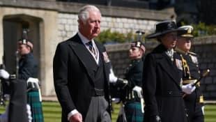 Prinz Charles und Prinzessin Anne