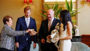 Prinz Harry, Herzogin Meghan, Peter Cosgrove, Lynne Cosgrove