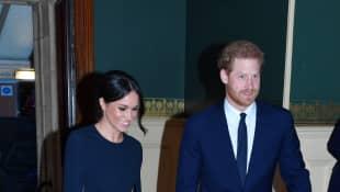 Meghan Markle und Prinz Harry erscheinen zur Geburtstagsfeier der Queen