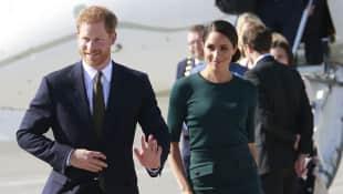 Prinz Harry und Herzogin Meghan bei ihrer Ankunft in Irland