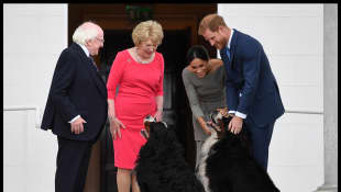 Prinz Harry, Herzogin Meghan, Michael D. Higgins und Frau Higgins