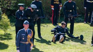 Soldat bei Prinz Philips Beerdigung