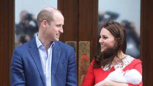 Prinz William und Herzogin Kate nach der Geburt des 3. Babys