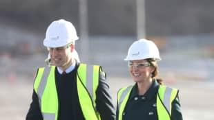 Prinz William und Herzogin Kate besuchen die Baustelle der Northern Spire Bridge