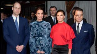 Prinz William, Herzogin Kate, Prinzessin Victoria und Prinz Daniel