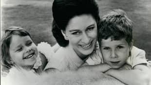 Prinzessin Margaret mit ihren Kindern Sarah und David