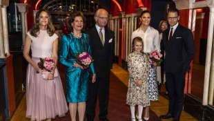Prinzessin Sofia, Königin Silvia, König Carl Gustaf, Prinzessin Estelle, Prinzessin Victoria, Prinz Daniel