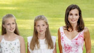 Prinzessin Sofia, Prinzessin Leonor und Königin Letizia