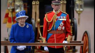 Queen Elizabeth und Prinz Edward
