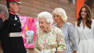 Königin Elisabeth II., Herzogin Camilla und Herzogin Kate