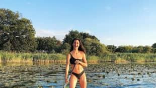 Rebecca Mir durchtrainierter Body