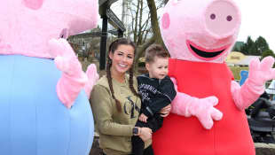 """Sarah Lombardi und Alessio: Sie eröffneten im Heidepark das neue """"Peppa Pig Land"""""""