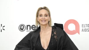 Sharon Stone Academy Awards Viewing Party Elton John AIDS Foundation