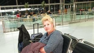 Silvia Wollny auf dem Weg in den Urlaub