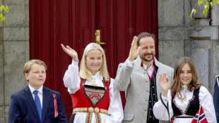 Sverre Magnus, Mette Marit,  Haakon und Prinzessin Ingrid Alexandra