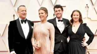 Tom Hanks, Rita Wilson, Truman Theodore Hanks und Elizabeth Hanks