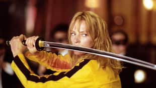 "Uma Thurman als ""die Braut"" in ""Kill Bill"", Actionheldin"