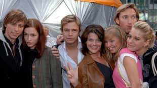 Der GZSZ-Cast von 2005 (von links): Felix von Jascheroff, Uta Kargel, Pete Dwojak, Hanne Wolharn, Katharina Ursinus, Robert Lyons und Jasmin Weber