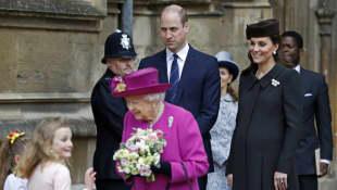 Königin Elisabeth, Prinz William und Herzogin Catherine