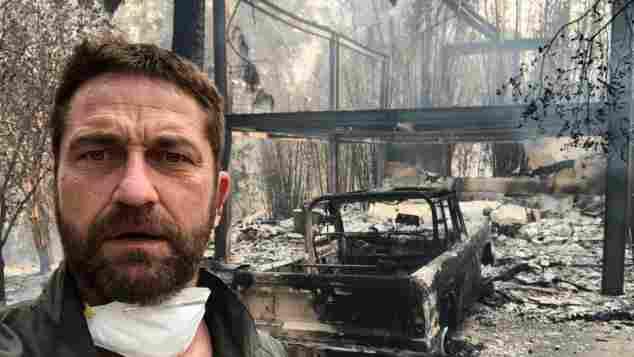 Gerard Butler verbranntes Haus
