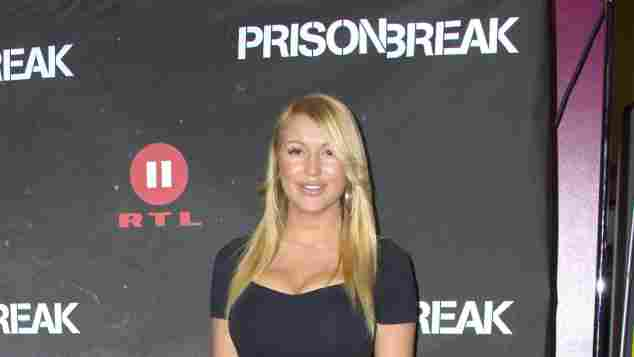 """Chethrin Schulze bei der Premiere von """"Prison Break"""""""