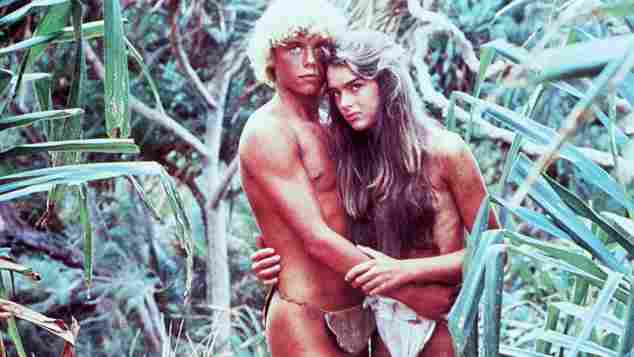 """Christopher Atkins und Brooke Shields in """"Die blaue Lagune"""" 1980"""