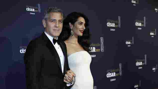 George und Amal Clooney in Paris