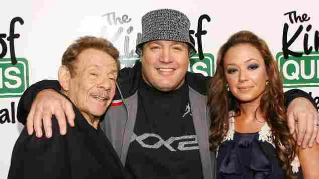 """Jerry Stiller, Kevin James und Leah Remini bei einer """"King of Queens""""-Premiere"""