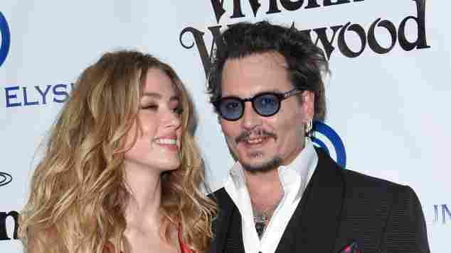 Johnny Depp und Amber Heard sind super happy