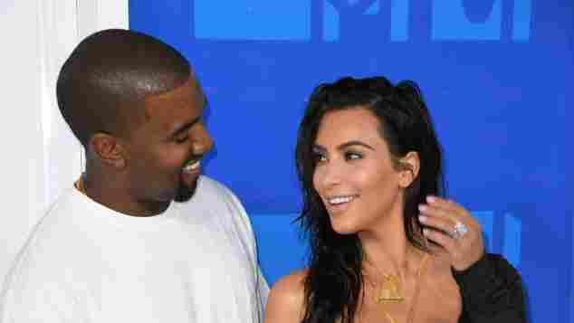 Kanye West und Kim Kardashian bei den MTV VMAs