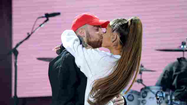 Mac Miller Ariana Grande Paar Kuss