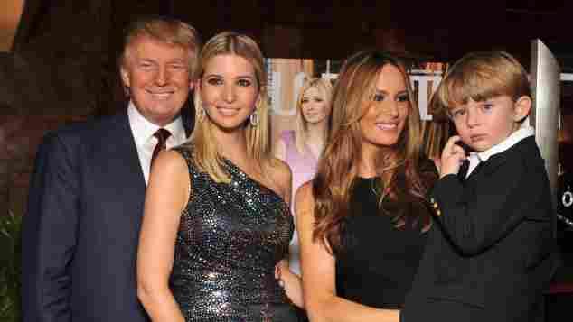Die Familie von Donald Trump im Jahr 2009