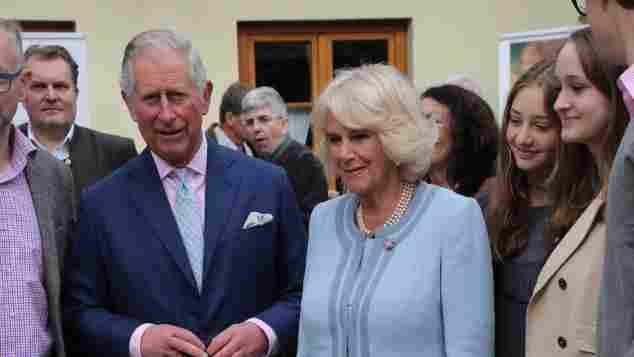Prinz Charles und Frau Camilla bei einem Besuch in Wien