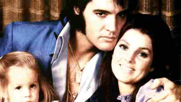 Priscilla, Elvis und ihre Tochter Lisa Marie Presley 1970