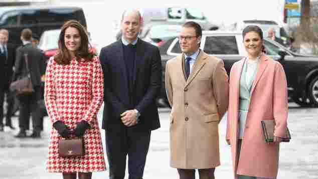 Prinz William Herzogin Catherin Schweden Prinzessin Victoria