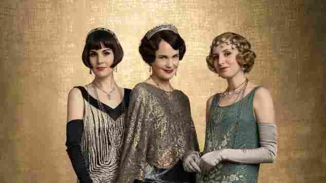 "Michelle Dockery spielt ""Lady Mary Talbot"", Elizabeth McGovern als ""Lady Grantham""/""Cora Grawley"" und Laura Carmichael als ""Lady Hexham""/""Edith Pelham"""
