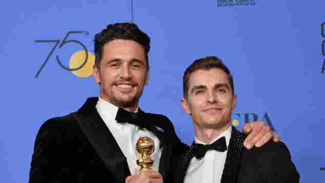 James Franco als Gewinner eines Golden Globes