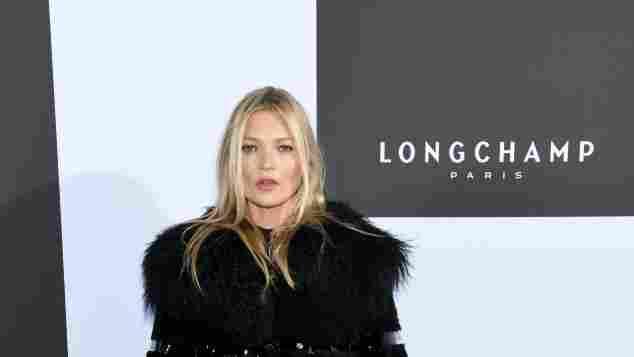 Kate Moss bei der Longchamp Fashion Show 2019