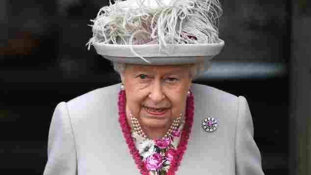 Königin Elisabeth II. Pizza