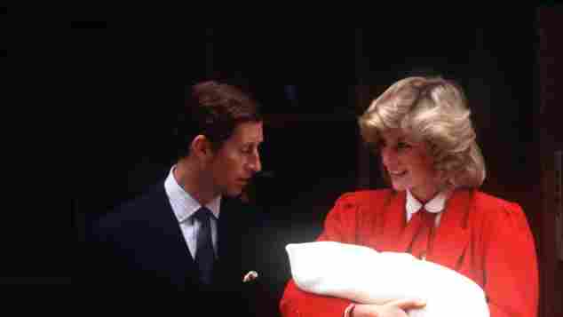 Prinz Charles und Lady Diana bei der Geburt von Prinz Harry