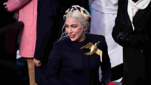 Lady Gaga bei der Vereidigung von Präsident Joe Biden 2021