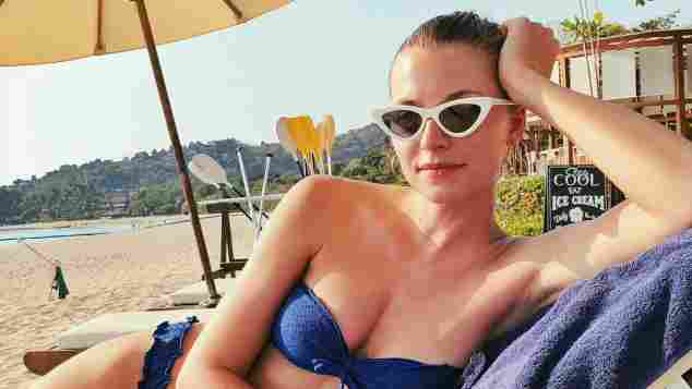 Lena Gercke, Lena Gercke Bikini-Body, Lena Gercke Strandfigur, Lena Gercke Körper, Lena Gercke heißer Bikini-Body, Lena Gercke in Bikini, Lena Gercke am Strand
