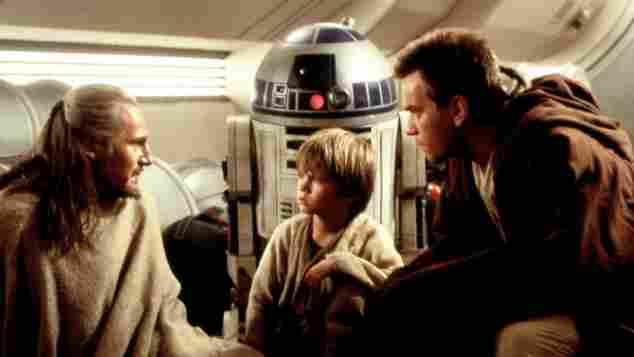"""Liam Neeson, Jake Lloyd und Ewan McGregor in """"Star Wars - Episode I"""""""