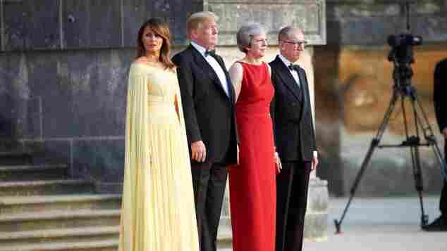 Melania Trump, Donald Trump, Theresa May und Philipp May