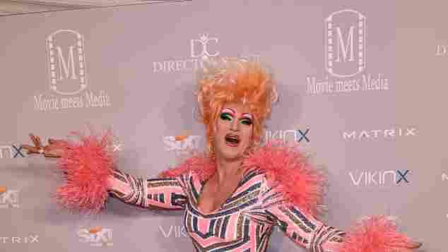Drag Queen Olivia Jones bei der Movie Meets Media Party in Berlin