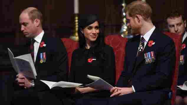 Prinz William müde, Prinz William Augen zu