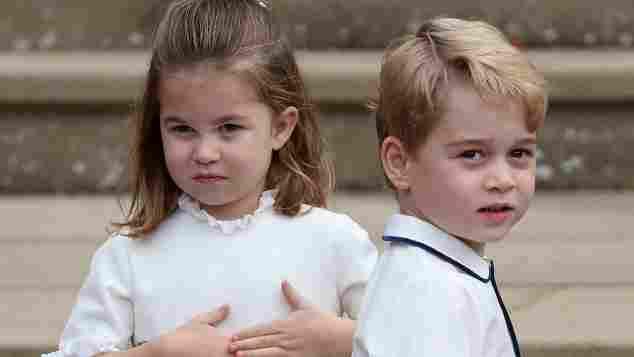 Prinzessin Charlotte und Prinz George bei der Hochzeit von Eugenie