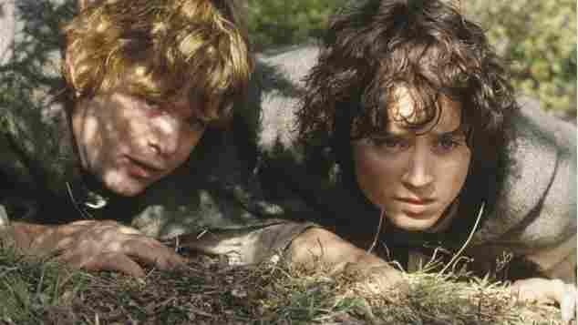 Sean Astin Sam Elijah Wood Frodo Herr der Ringe Die zwei Türme