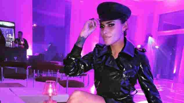 Sophia Thomalla im sexy Lackoutfit