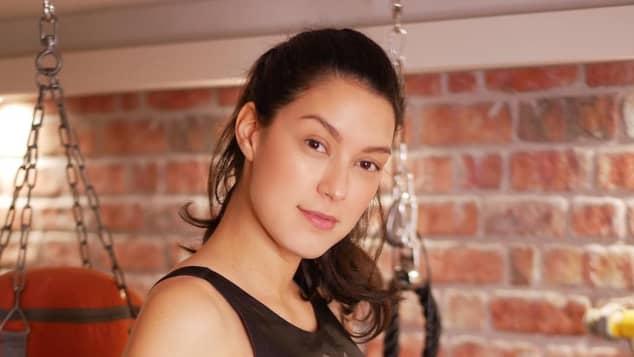 Rebecca Mir schwanger beim Sport